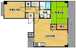 兵庫県神戸市長田区東丸山町の賃貸マンションの間取り