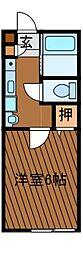 ビレッジハイツ3[2階]の間取り
