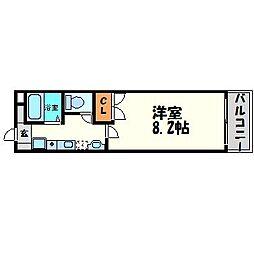 兵庫県尼崎市下坂部3丁目の賃貸アパートの間取り