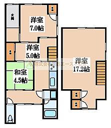 [一戸建] 大阪府堺市西区津久野町3丁 の賃貸【/】の間取り