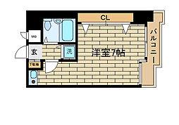 兵庫県神戸市須磨区須磨寺町1丁目の賃貸マンションの間取り