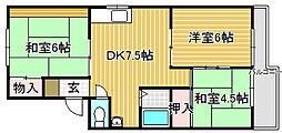 FKマンション大豆塚[3階]の間取り