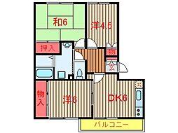 スリーアイズマンション[102号室]の間取り