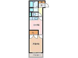ロータリービルド松阪[206号室]の間取り