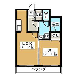 アーバネックス室町[10階]の間取り