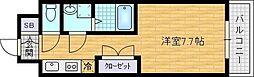 レジュールアッシュ梅田LUXE[2階]の間取り