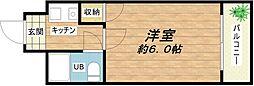 大阪府大阪市中央区上本町西1丁目の賃貸マンションの間取り