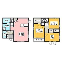 [一戸建] 三重県鈴鹿市南若松町 の賃貸【/】の間取り