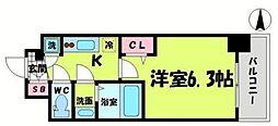 エスリード京橋グランツ 2階1Kの間取り