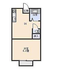 シャンポール五香[2階]の間取り