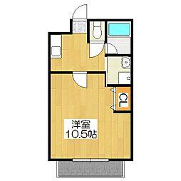 サンマンションナリマチ[405号室]の間取り