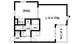 ア・コテ・ドゥ・シェヌ夙川[306号室]の間取り