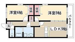エターナル小幡[2D号室]の間取り
