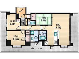 エステムコート新大阪4パークフロント[12階]の間取り