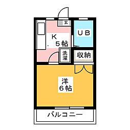 キャンパスライフ[1階]の間取り