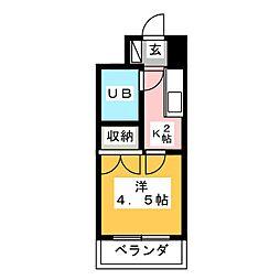 ラ・レジダンスド・仙台 517号[5階]の間取り
