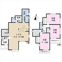 JR高崎線 宮原駅 徒歩8分 3LDKの間取り