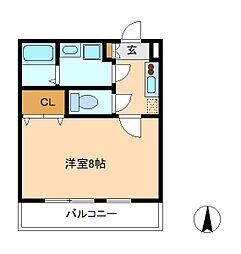 クレフラスト松戸吉井町B棟[1階]の間取り