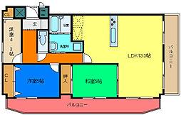 兵庫県姫路市安田1丁目の賃貸マンションの間取り