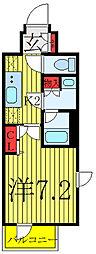 東京メトロ南北線 志茂駅 徒歩9分の賃貸マンション 5階1Kの間取り