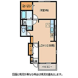 JR中央本線 下諏訪駅 バス6分 長野銀行前下車 徒歩5分の賃貸アパート 1階1LDKの間取り