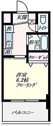ツインバレー東神奈川[302号室号室]の間取り