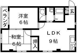 パークサイド福岡[302号室号室]の間取り