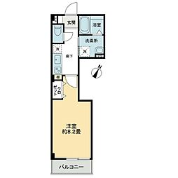 レジデンシア西宝町(アパート) 2階1Kの間取り