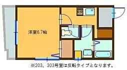 アイマンション[2階]の間取り