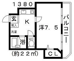センターヴィレッジ[202号室号室]の間取り