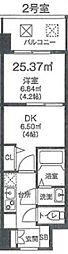 ビガーポリス346京橋II 4階1DKの間取り