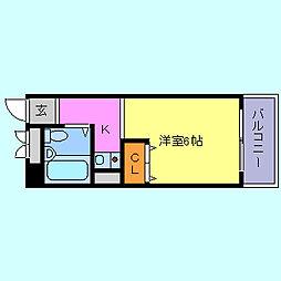 サンマリン妙法寺[3階]の間取り