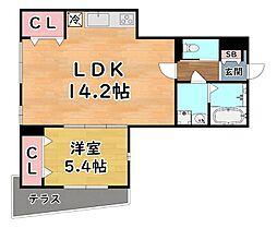 阪急神戸本線 王子公園駅 徒歩16分の賃貸アパート 1階1LDKの間取り