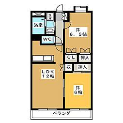 静岡県静岡市駿河区寿町の賃貸マンションの間取り