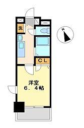 プレサンス鶴舞公園WEST[8階]の間取り