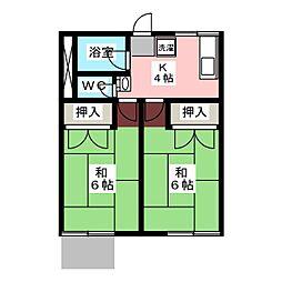 森脇アパート[1階]の間取り