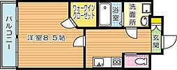 ベルガ穴生[3階]の間取り