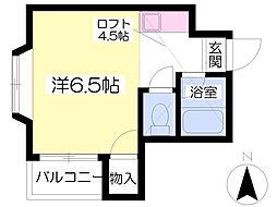 シャイナハイムA[202号室]の間取り