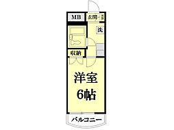 ソワレ・ド・ミノベ鶴見中央ビル[504号室]の間取り