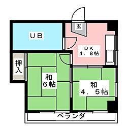 上杉第一ビル[3階]の間取り