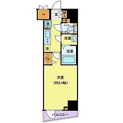 小田急小田原線 千歳船橋駅 徒歩12分の賃貸マンション 2階1Kの間取り