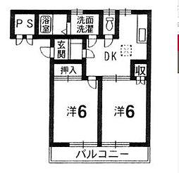 グランボヌールII[2階]の間取り