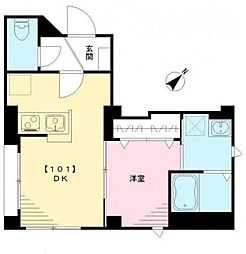 BESUMA月島(ベスマツキシマ) 1階1DKの間取り