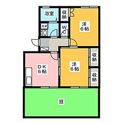 エスペランサ A[1階]の間取り