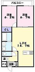 La Maison Claire[2階]の間取り