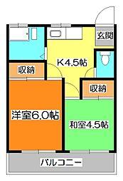 高橋コーポ[1階]の間取り