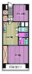 川口寿コーポ[6階]の間取り