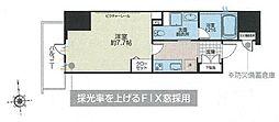 JR総武線 浅草橋駅 徒歩6分の賃貸マンション 11階1Kの間取り