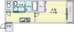 Osaka Metro御堂筋線 江坂駅 徒歩10分の賃貸アパート 3階1Kの間取り