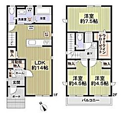 [一戸建] 愛知県名古屋市千種区橋本町3丁目 の賃貸【/】の間取り